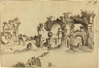 1636 Drawing - Willem Van Nieuwlandt II Dutch, 1584 - 1635-1636 by Quint Lox