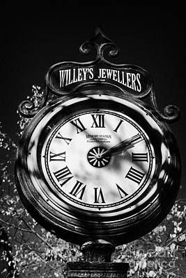 willeys jewellers clock made by memory station clock company on broadway saskatoon Saskatchewan Canada Print by Joe Fox