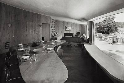 Tableware Photograph - William A. M. Burden's Living Room by Tom Leonard