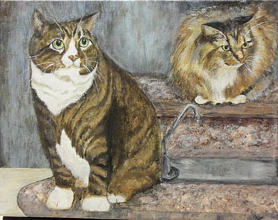 Painting - William And Charles by Maureen Pisano
