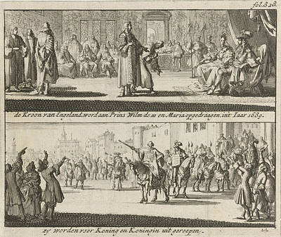 William And Mary Proclaimed King And Queen Of England Art Print
