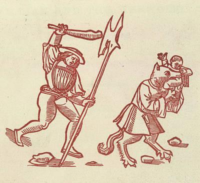 William And The Werworlf Art Print by British Library