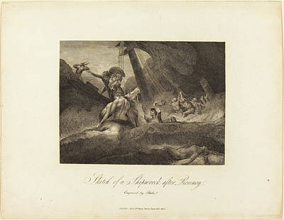 William Blake Drawing - William Blake After George Romney British by Quint Lox