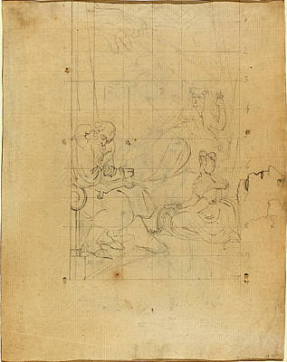 Blake Drawing - William Blake After Henry Fuseli, British 1757-1827 by Litz Collection