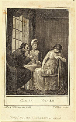 Blake Drawing - William Blake After Mary Ann Flaxman, British 1757-1827 by Litz Collection