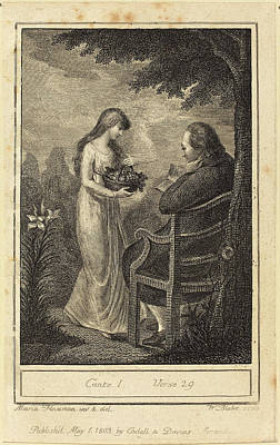 Blake Drawing - William Blake After Mary Ann Flaxman British by Quint Lox