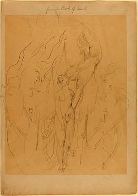 Blake Drawing - William Blake British, 1757 - 1827, An Angel Teaching by Quint Lox
