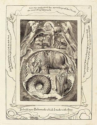 Blake Drawing - William Blake British, 1757 - 1827, Behemoth And Leviathan by Quint Lox