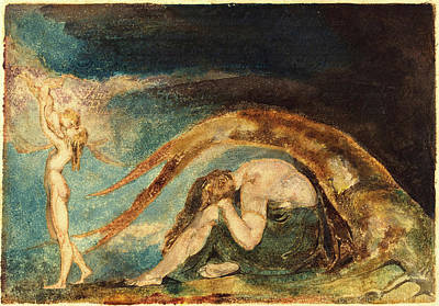 Blake Drawing - William Blake, British 1757-1827, Dream Of Thiralatha by Litz Collection