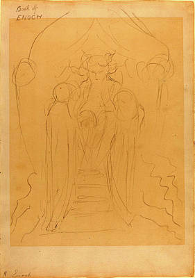 Blake Drawing - William Blake, British 1757-1827, Enoch Before The Great by Litz Collection