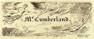 Blake Drawing - William Blake, British 1757-1827, George Cumberlands Card by Litz Collection