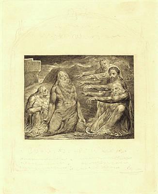 William Blake, British 1757-1827, Job Rebuked By His Friends Art Print