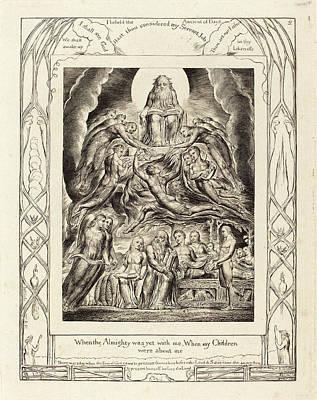 William Blake British, 1757 - 1827, Satan Before The Throne Art Print