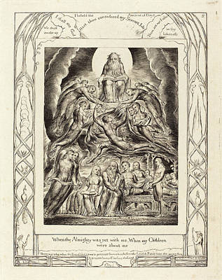Blake Drawing - William Blake British, 1757 - 1827, Satan Before The Throne by Quint Lox