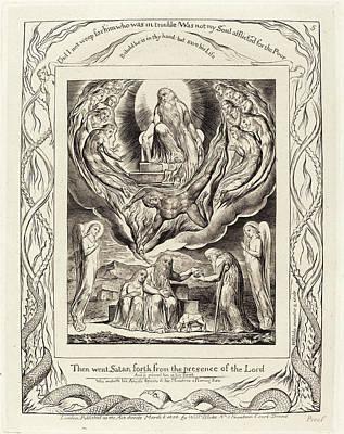 Blake Drawing - William Blake British, 1757 - 1827, Satan Going Forth by Quint Lox