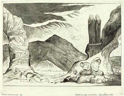 Blake Drawing - William Blake, British 1757-1827, The Circle by Litz Collection