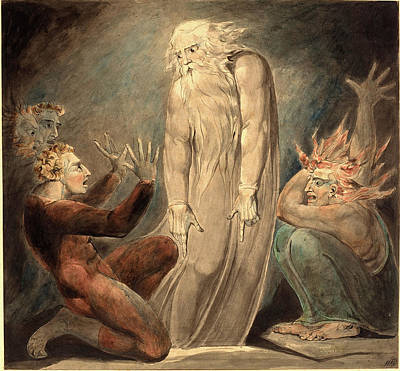 Blake Drawing - William Blake, British 1757-1827, The Ghost Of Samuel by Litz Collection