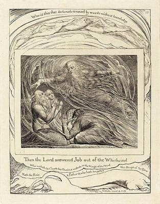 Blake Drawing - William Blake British, 1757 - 1827, The Lord Answering Job by Quint Lox