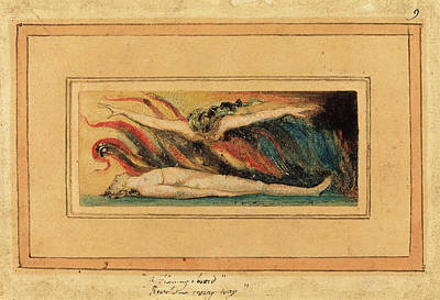 Blake Drawing - William Blake British, 1757 - 1827, The Soul Hovering by Quint Lox