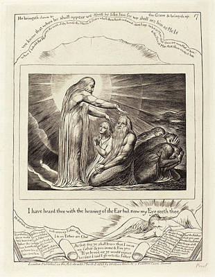 William Blake Drawing - William Blake British, 1757 - 1827, The Vision Of God by Quint Lox