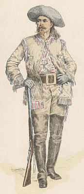 Bison Drawing - William Frederick 'buffalo Bill' Cody by Mary Evans Picture Library