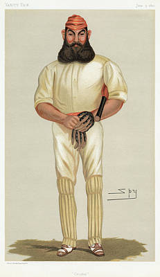 Shin Guard Painting - William Gilbert Grace (1848-1915) by Granger