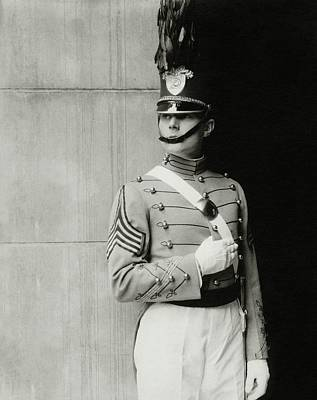 Cadet Photograph - William Haines Wearing A Military Uniform by Edward Steichen