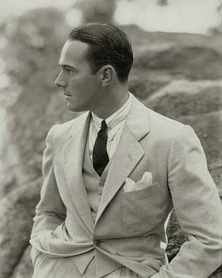 Flannel Photograph - William Haines Wearing A Three-piece Suit by Edward Steichen