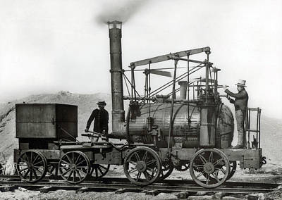 Steam Turbine Wall Art - Photograph - William Hedley, Puffing Billy, 19th by Science Source