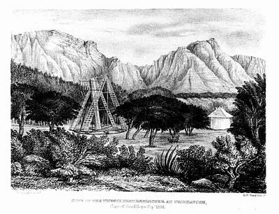 Stellar Photograph - William Herschel's 20ft Telescope by Universal History Archive/uig
