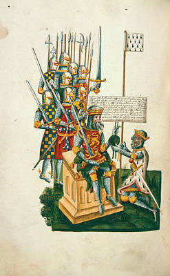 Normans Photograph - William I And Alan Of Brittany by British Library