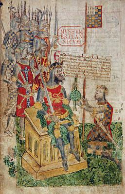 Normans Photograph - William I And Earl Of Brittany by British Library