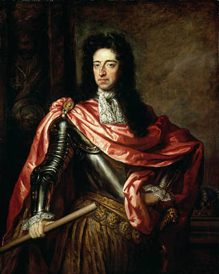 William IIi Of Great Britain And Ireland Oil On Canvas Print by Sir Godfrey Kneller