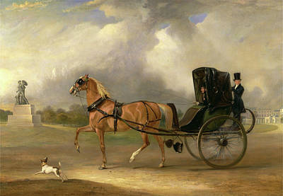 Hyde Park Painting - William Massey-stanley Driving His Cabriolet In Hyde Park by Litz Collection