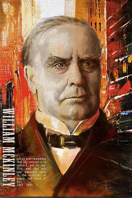 Politicians Paintings - William McKinley by Corporate Art Task Force
