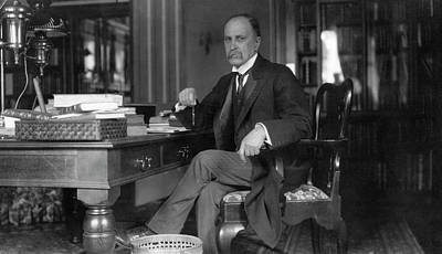 Professor Photograph - William Osler At Oxford University by National Library Of Medicine
