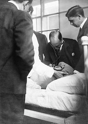1903 Photograph - William Osler Attending A Patient by National Library Of Medicine