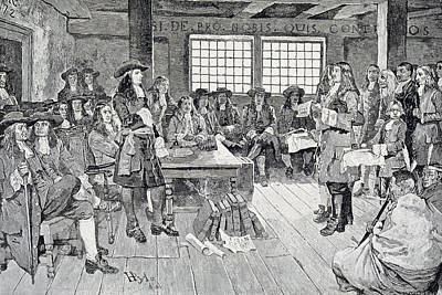 Quaker Meeting Photograph - William Penn In Conference With The Colonists, Illustration From The First Visit Of William Penn by Howard Pyle