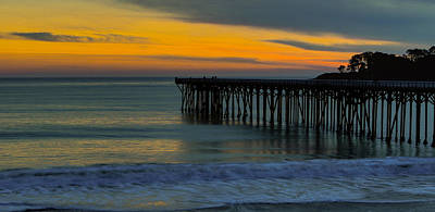 Photograph - William R. Hearst Memorial  State Beach Pier by Duncan Selby