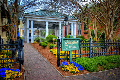 William Rand Tavern At Smithfield Inn Art Print by Williams-Cairns Photography LLC