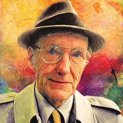 Novelist Painting - William S. Burroughs by Taylan Apukovska