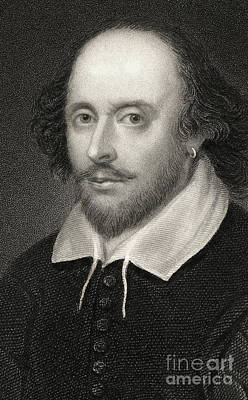 Eyes Detail Drawing - William Shakespeare by English School