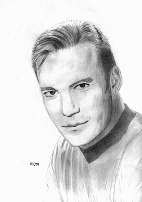 Drawing - William Shatner - Capt. Kirk by Pat Moore