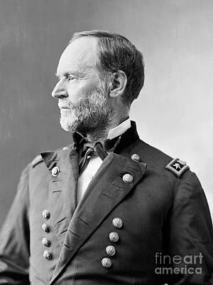 Cameo Photograph - William Tecumseh Sherman by American School