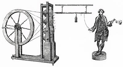 1797 Photograph - William Watson's Electrical Machine by Universal History Archive/uig