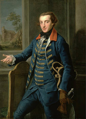 Gold Glove Painting - William Weddell, Pompeo Batoni, 1708-1787 by Litz Collection