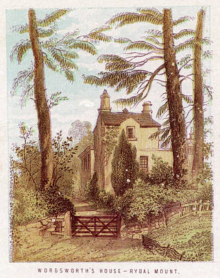 Fence Drawing - William Wordsworth  His Home At Rydal by Mary Evans Picture Library