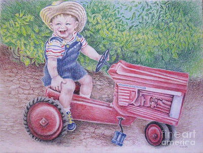 Williams' Tractor Art Print by Mark S  Lee