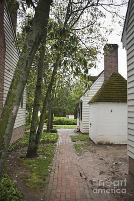 Living History Photograph - Williamsburg Alley by Teresa Mucha