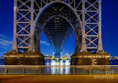 New York Skyline Photograph - Williamsburg Bridge 2 by Az Jackson